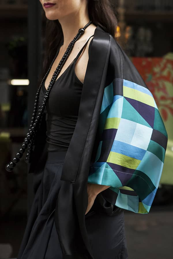 Kimono seda natural mujer corto